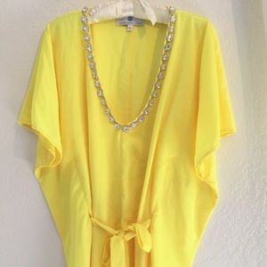Other - 💛🍋Really Pretty Jewel Neck Yellow Kaftan🍋💛